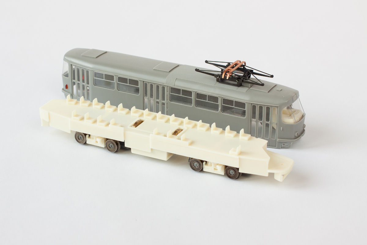 Assembled motorized kit of Tatra T3 tram