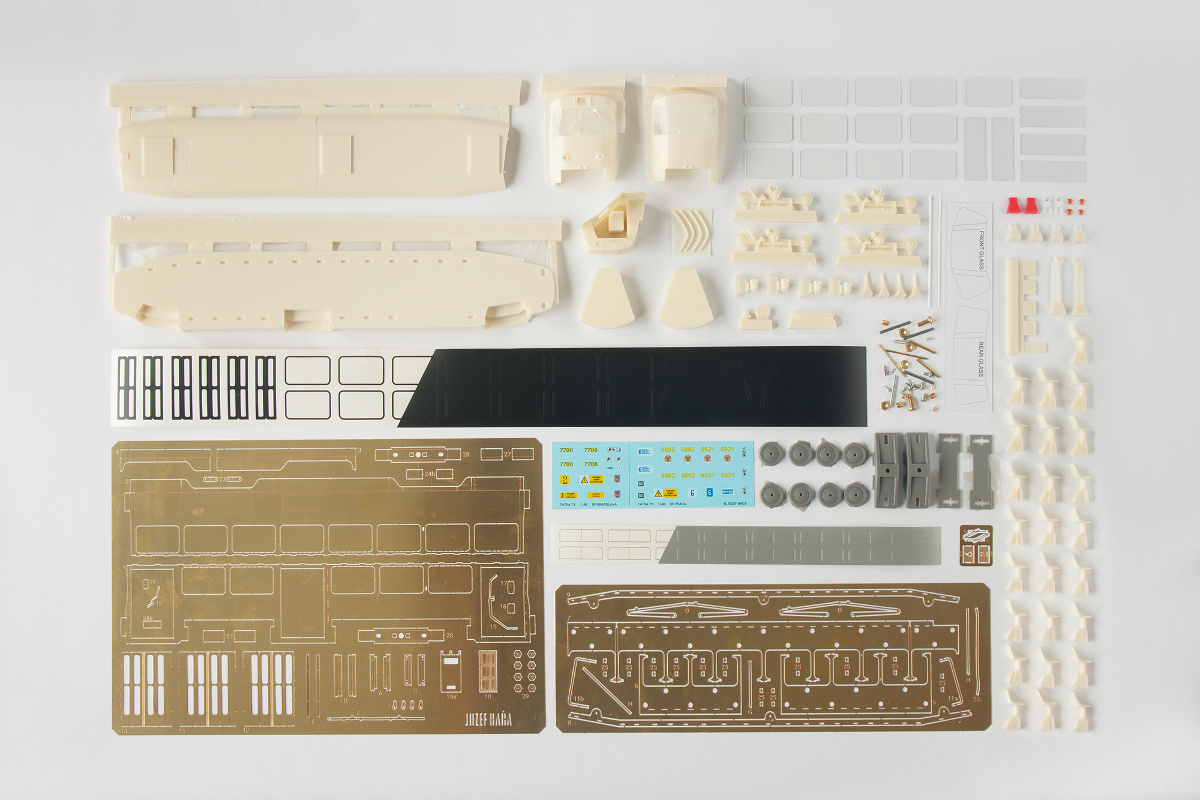 Complete Tatra T3 O-scale kit