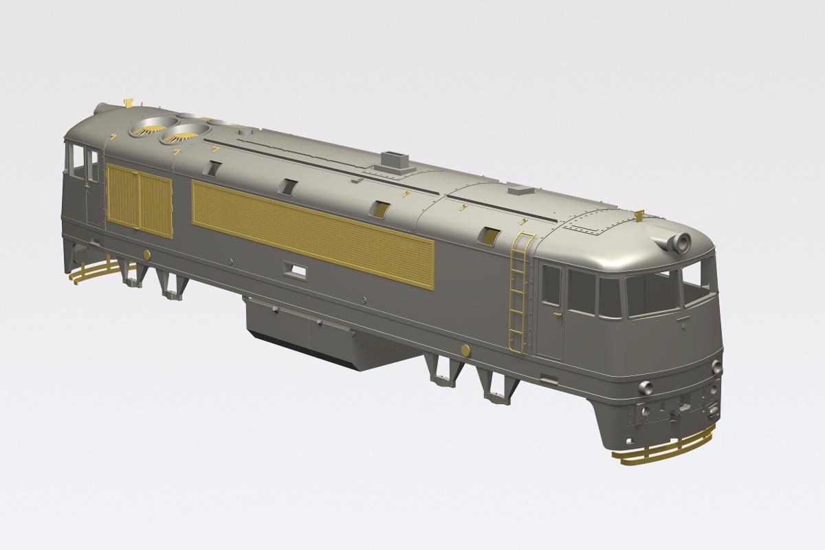 Virtual model of dieselelectric locomotive T678