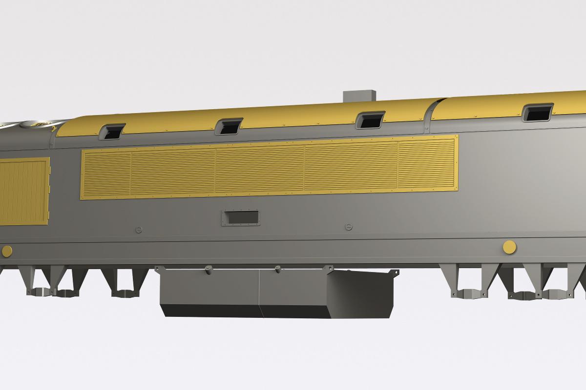 Virtual model of dieselelectric locomotive DEM2000