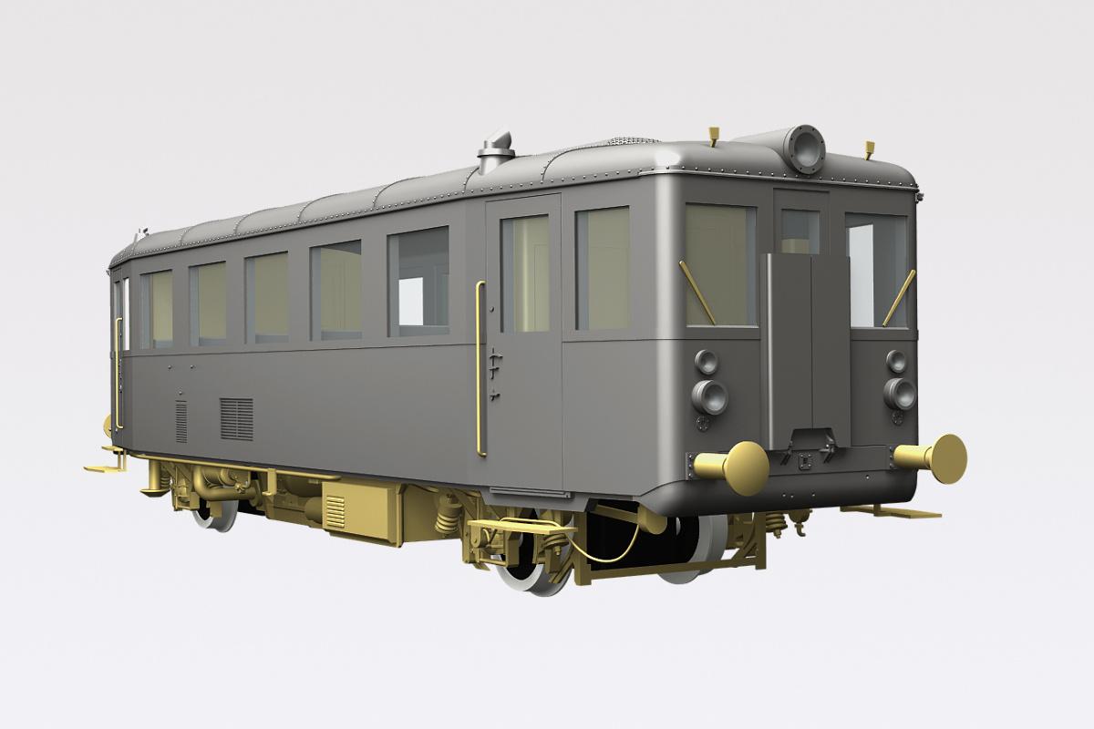 M131 rail car H0 model