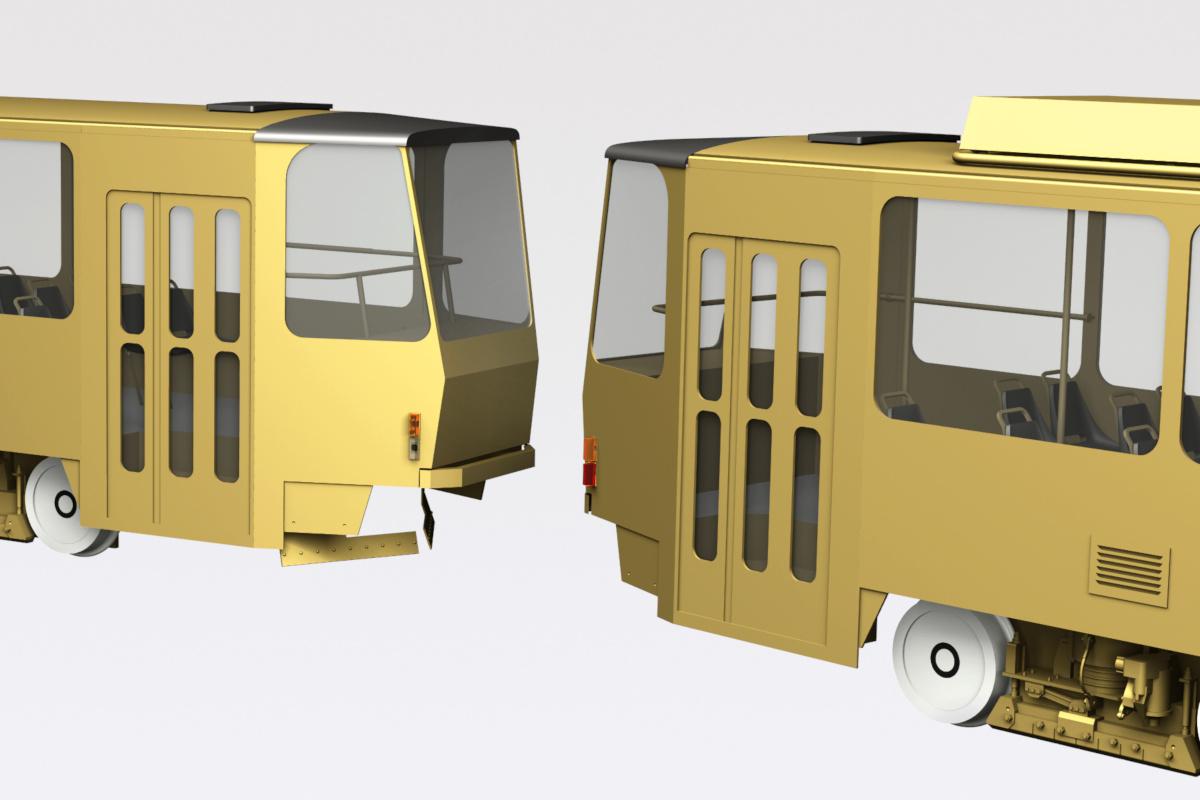 Tatra T6A2 tramway 0-scale model